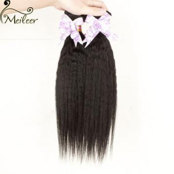150g/3 Bundles Brazilian Kinky Straight Human Hair Extension 6A Virgin Hair Weft