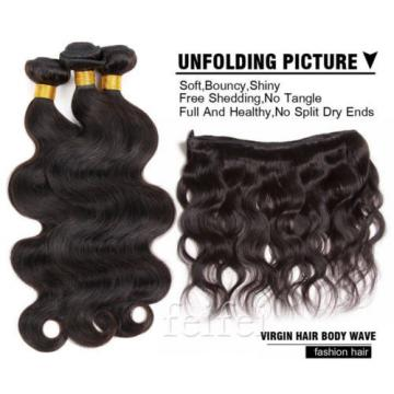 3 Bundles 7A Virgin Human Hair Extensions Weave EP Brazilian Peruvian