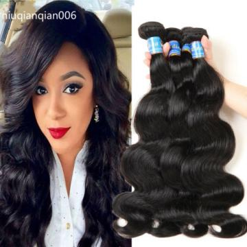 6A 4Bundles Brazilian Body Wave Unprocessed Virgin Hair 100% Human Hair Weave