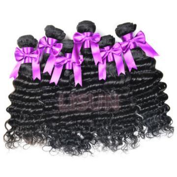 "7A Brazilian Deep Wave Virgin Hair100% Brazilian Human Hair Weave 8""X3 Bundle"