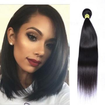 "8""-26"" Brazilian Straight 100% Virgin Human Hair Weaving Weft Extensions 50g"