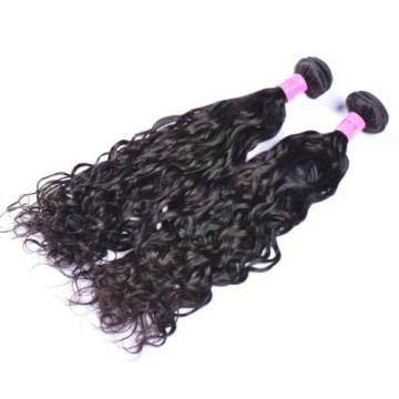 Brazilian Virgin Hair Bundles Water Wave Human Hair Weft Natural Black 1B# 100g