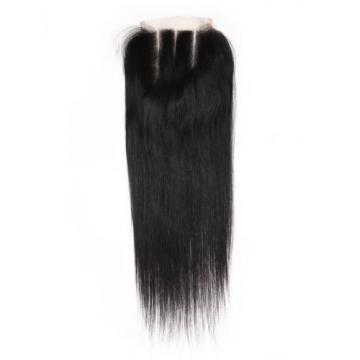 8A Brazilian Virgin Human Hair Extension Lace Top Closure Invisible Three Part