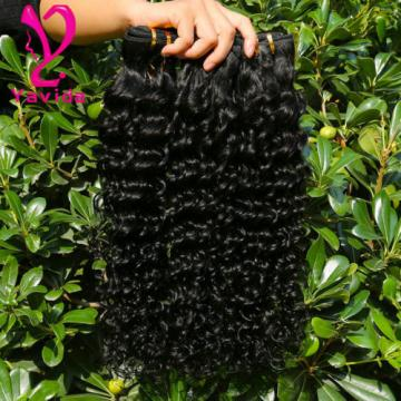 7A Grade Deep Wave Wavy Brazilian Virgin Human Hair Extensions Weft 300g/3Bundle