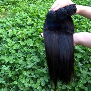 "100% 6A 1 Bundle 100g Virgin Brazilian Straight 10-30"" Natural Black Human Hair"