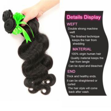 Brazilian Virgin Body Wave Weave Weft 100% Human Hair Wavy 3 Bundles/150g