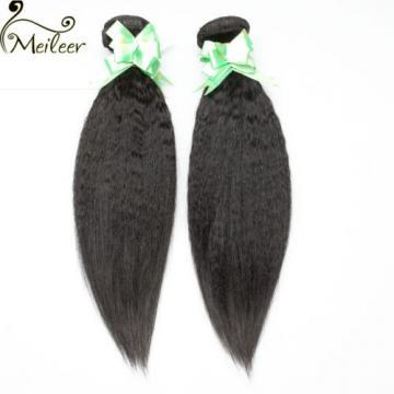 3bundle yaki Kinky Straight Virgin Brazilian remy human hair weft Weave 150g/lot