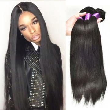 3 Bundles 100% Unprocessed Virgin Straight Brazilian hair Extension Human Weave