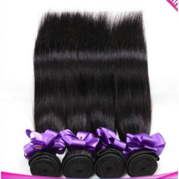 "6A 1Bundle Virgin Brazilian Straight 10-30"" Natural Black Human Hair 100g/pc T1"