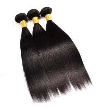 3 Bundles Unprocessed Brazilian Virgin Hair Straight Weave Human Hair Extensions