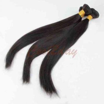 "3 Bundles 18"" Remy Virgin Brazilian Straight Human Hair Weft Extensions 150g all"