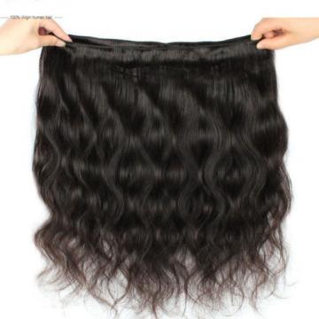 100% Human Hair Virgin Brazilian Body Wave Wavy Extension Weft Black Grade 5A