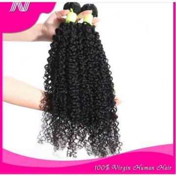 100% 6A Unprocessed Virgin Brazilian kinky wave Hair Natural Black bundles 100g