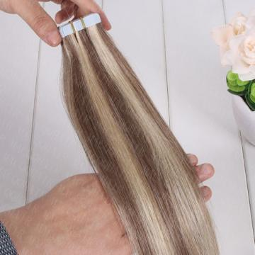NEW 20pcs/set Tape In Skin Weft 100% Brazilian Virgin Remy Human Hair Extensions