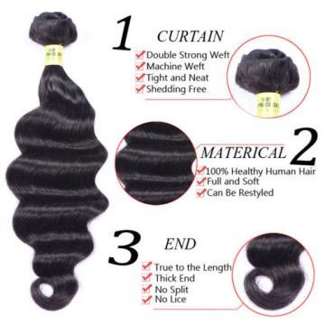 loose wave 100% Brazilian Human Hair 1 bundle/50g unprocessed virgin hair weft