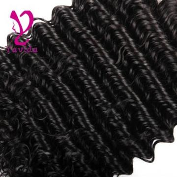 THICK Deep Curly Wavy Virgin Brazilian Human Hair Extensions Weft 300g/3 Bundles