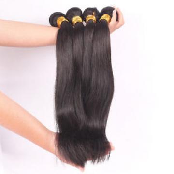 1 Bundle Brazilian Hair Extensions Straight Unprocessed Virgin Human Hair Weave
