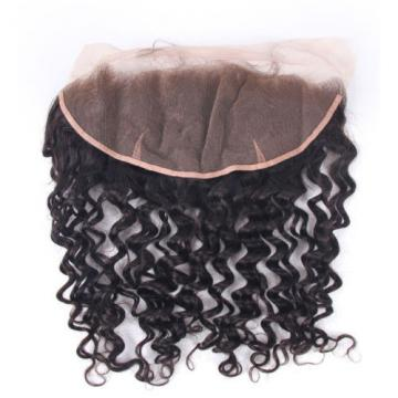 "13""x4 Lace Frontal with 3 Bundles 7A Brazilian Curly Virgin Human Hair Weft 300g"