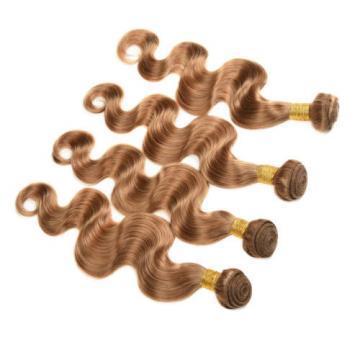 Brazilian Human Hair Virgin Remy Blonde Hair Extensions 3pcs Body Wave Color 27#