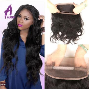 360 Lace Frontal Closure Brazilian Virgin Hair Human hair Extensions Body Wave