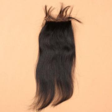 7A 4*4 Lace Closure 100% Brazilian Baby Virgin Human Hair Straight Natural Black