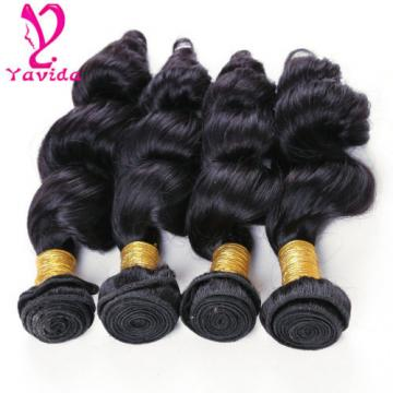 7A Unprocessed Virgin Brazilian Loose Wave Hair Weft Extension 400g/4Bundles