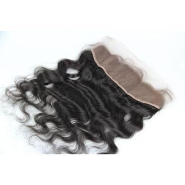 Brazilian Virgin Hair Natural Looking Swiss Lace Frontal Closure Wavy 13x4 Inch