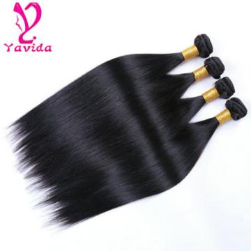 400g 100% Unprocessed Virgin Brazilian Straight Hair Extensions Human Weave Weft