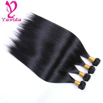 400g 100% Unprocessed Virgin Brazilian Straight Hair Extensions Human Weave Weft