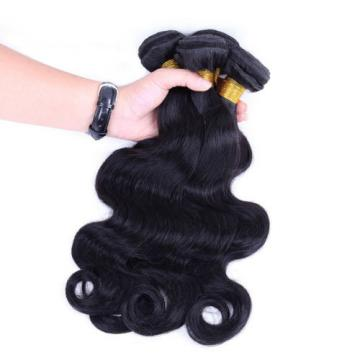 THICK 7A Body Wave Virgin Brazilian Human Hair Extensions Weft 300g/3 Bundles