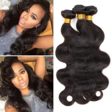 Brazilian Virgin Body Wave Human Hair Extensions 3 Bundles/ All 150g Hair Weave