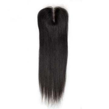 3.5x4 Brazilian Straight Lace Closures 5A Virgin Remy Human Hair Bleached Knots
