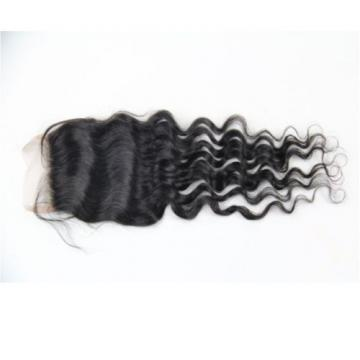 "4""x4"" Wave Lace Top Closure 100% Remy Brazilian Virgin Human Hair Natural Color"