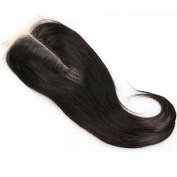 Virgin Brazilian Human Hair Straight Lace Closure Top Natural Center Part 10""