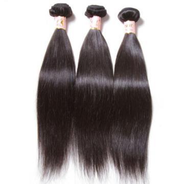 3 Bundles/300g Brazilian Silky Straight 100% Virgin Human Hair Extensions Weft