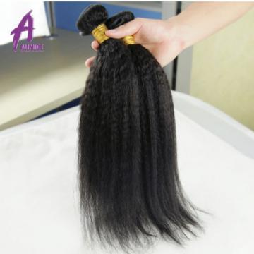 Kinky Straight Brazilian Virgin Human Hair Extensions Weave 3 Bundles 300g 7A