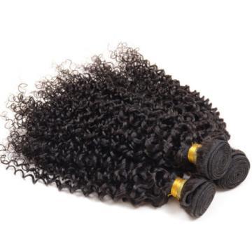 "Brazilian kinky curly virgin hair weave human hair weft natural color 12"" 100g"