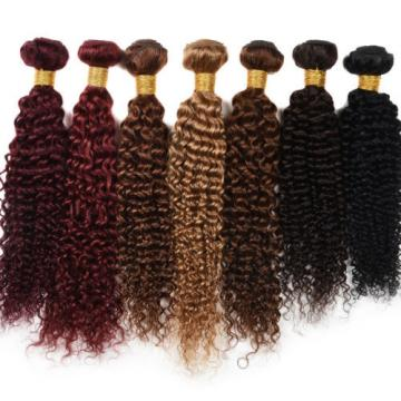 "10-20""100% Virgin Brazilian Weft Kinky Curl Human Hair Extensions 3 Bundles/300g"