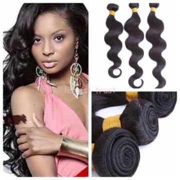 Unprocessed 3 Bundles 6A Virgin Brazilian Human Remy Hair Weave Body Wave 300g