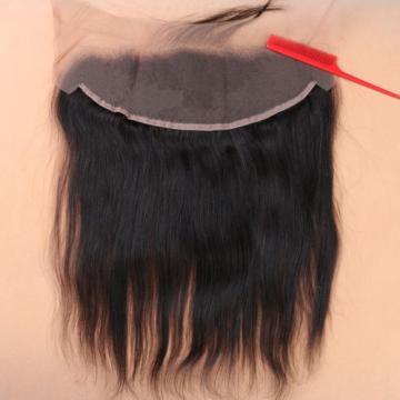 Remy Brazilian Human Virgin Hair Straight 13*4 Ear to Ear Lace Frontal Closure