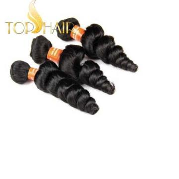 100% Virgin Brazilian Loose Wave Weave Remy Human Hair Weft Wavy 3bundles/150g