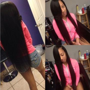 3Bundles 100% Unprocessed Virgin Indian Straight Hair Extension Human Weave Weft