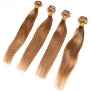 4Bundle 100% Remy Virgin Brazilian Human Hair Extensions Weft Straight Hair 50g