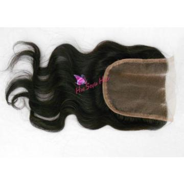 Brazilian Virgin Human Hair Straight/Body Wave Lace Closure 1B Black Piece 3.5*4