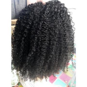 Brazilian Human Hair Kinky Curly Extensions Natural Black Weft Virgin Hair Weave