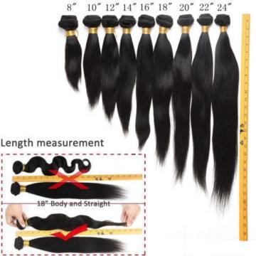 4 Bundles Remy Virgin Brazilian Straight Human Hair Weave Extensions 200g