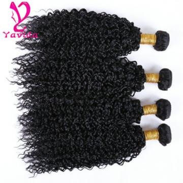 400g/4 Bundles 7A Kinky Curly Virgin Brazilian Human Hair Weft Extensions