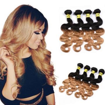 3 Bundles/300g Body Wave Ombre Virgin Brazilian 100% Human Hair Extension