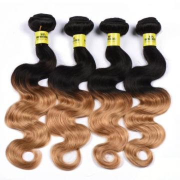 3 Bundles/300g Body Wave Ombre Virgin Brazilian 100% Human Hair Extension