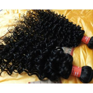 Brazilian Curly Weave Virgin hair extension 4 bundles/200g Natural Black Hair